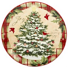 Certified International Holiday Wishes Round Platter