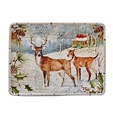 Winter Lodge Rectangular Platter
