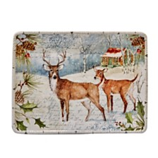 Certified International Winter Lodge Rectangular Platter
