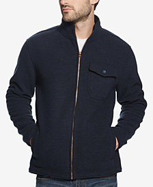 Weatherproof Vintage Men's Full-Zip Fleece-Lined Sweater