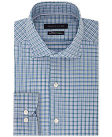 Tommy Hilfiger Men's Classic/Regular-Fit TH Flex Performance Stretch Non-Iron Check Dress Shirt