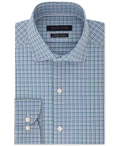 862c84dde Tommy Hilfiger. Men's Classic/Regular-Fit TH Flex Performance Stretch Non-Iron  Check Dress Shirt. Be the first to Write a Review. $79.50