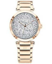 Women's Carnation Gold-Tone Stainless Steel Bracelet Watch 32mm, Created for Macy's
