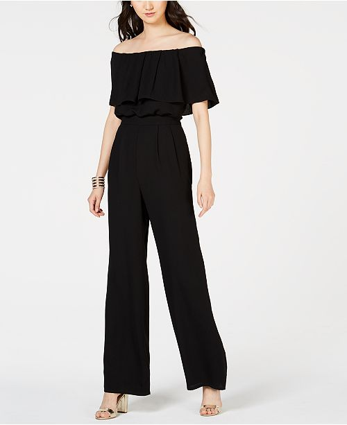 39843145615e Vince Camuto Off-The-Shoulder Jumpsuit   Reviews - Pants   Capris ...