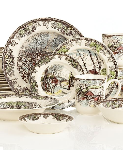 Johnson Bros. Friendly Village 28 Piece Set Service for 4