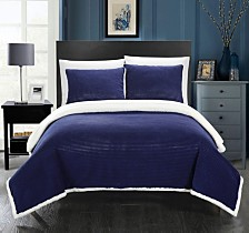 Chic Home Lancy Sherpa Blanket Bedding Collection
