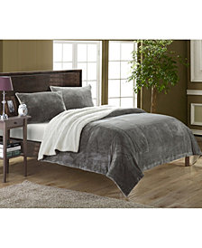 Chic Home Evie 7-Pc Queen Sherpa Blanket Bedding Set
