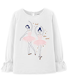 Carter's Toddler & Little Girls Ballerina Graphic T-Shirt
