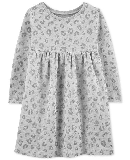 Carter's Toddler Girls Animal-Print Fleece Dress