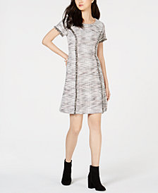 Connected Tweed A-Line Dress