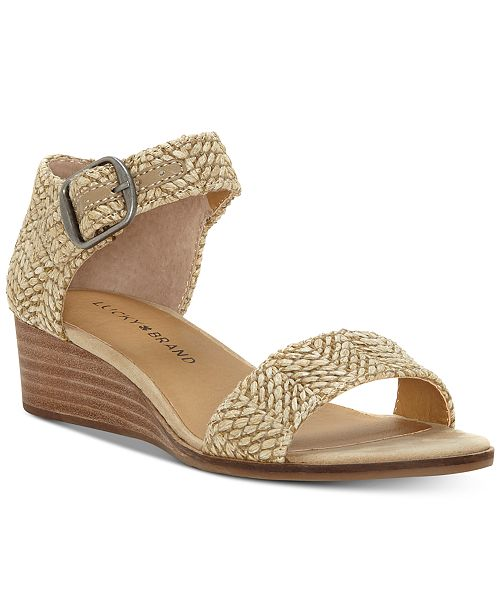 dddda74bf8 Lucky Brand Women's Riamsee Wedge Sandals & Reviews - Home - Macy's