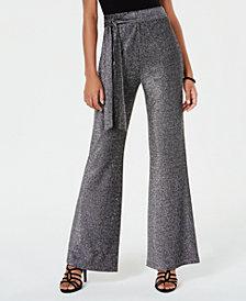 Material Girl Juniors' Shine Flare-Leg Soft Pants, Created for Macy's