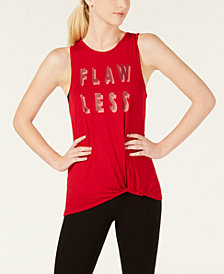 Material Girl Active Juniors' Twist Graphic Tank Top, Created for Macy's