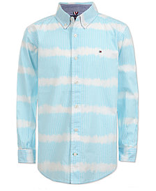 Tommy Hilfiger Little Boys Dino Striped Button-Front Cotton Shirt