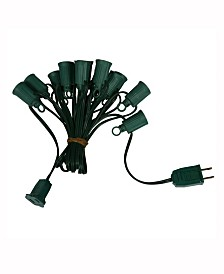 Vickerman 50' C9 Socket String With 50 C9 Sockets On 18 Gauge Spt1 Red Wire