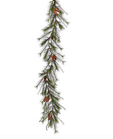 Vickerman 6 ft Big Fork Pine Artificial Christmas Garland Unlit