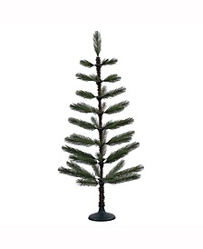 4' Green Feather Artificial Christmas Tree Unlit