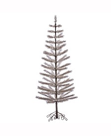 Vickerman 7' Champagne Feather Artificial Christmas Tree Unlit