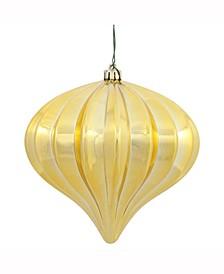 "5.7"" Gold Shiny Onion Christmas Ornament"