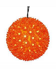"Vickerman 7.5"" Starlight Sphere Christmas Ornament With 100 Orange Wide Angle Led Lights"