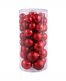 "Vickerman 2.4""-3""-4"" Red Shiny/Matte Ball Christmas Ornament"
