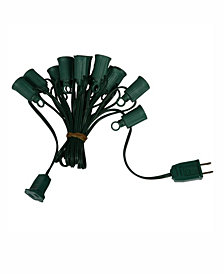 Vickerman 25' C9 Socket String With 25 C9 Sockets On 18 Gauge Spt2 Green Wire