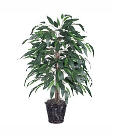 Vickerman 4' Artificial Mango Bush, Made With Real Tag Alder Trunks