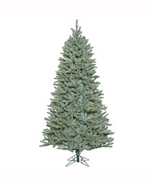 7.5 ft Colorado Blue Spruce Slim Artificial Christmas Tree With 800 Clear Lights