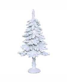 Vickerman 3' Snowy Alpine Artificial Christmas Tree