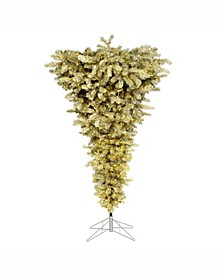 5.5 ft Champagne Upside Down Artificial Christmas Tree With 250 Warm White Led Lights