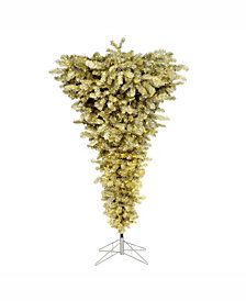 Vickerman 5.5 ft Champagne Upside Down Artificial Christmas Tree With 250 Warm White Led Lights