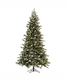 7.5 ft Frosted Balsam Fir Artificial Christmas Tree With 750 Warm White Led Lights