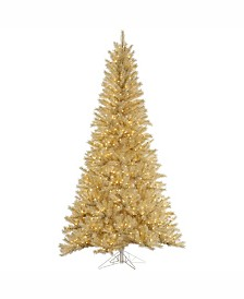 Vickerman 5.5 ft White-Gold Tinsel Artificial Christmas Tree With 350 Clear Lights