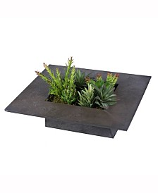 Vickerman 14 inch Assorted Succulent Wall Arrangement In Tin Container
