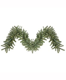 Vickerman 9 ft X 18 inch Colorado Spruce Garland, 150 Clear Dura-Lit Ul Lights, 260 Pe/Pvc Tips