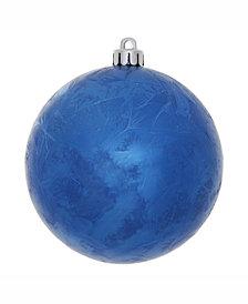"Vickerman 6"" Blue Crackle Ball Christmas Ornament"