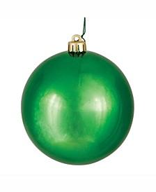 "4"" Green Shiny Ball Christmas Ornament"