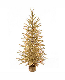 Vickerman 30 inch Champagne Artificial Christmas Tree With 35 Warm White Led Lights