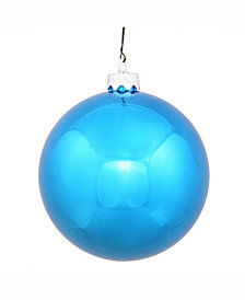 "Vickerman 8"" Turquoise Shiny Ball Christmas Ornament"