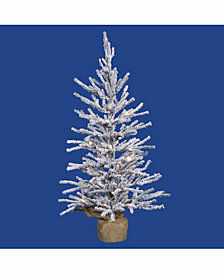 Vickerman 48 inch Frosted Angel Pine Artificial Christmas Tree With 70 Warm White Led Lights