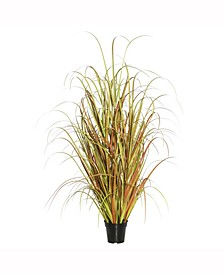 """24"""" Pvc Artificial Potted Mixed Brown Grass X 140"""