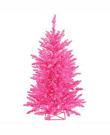 Vickerman 3 ft Hot Pink Artificial Christmas Tree