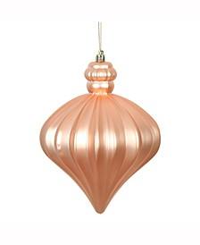 """6"""" Rose Gold Matte Onion Drop Ornament"""