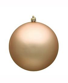 "4.75"" Cafe Latte Matte Uv Treated Ball Christmas Ornament"