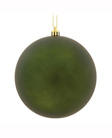 "6"" Moss Green Matte Uv Treated Ball Christmas Ornament"