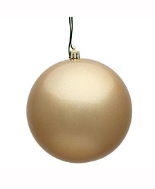 "8"" Cafe Latte Candy Uv Treated Ball Christmas Ornament"