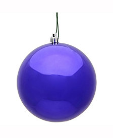 "Vickerman 10"" Purple Shiny Uv Treated Ball Christmas Ornament"