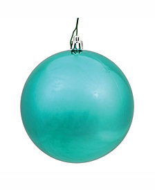 "Vickerman 8"" Teal Shiny Ball Christmas Ornament"