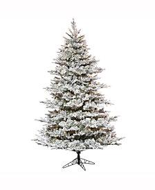 "7.5' X 60"" Flocked Kiana Artificial Christmas Tree"