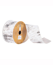 "2.5"" X 10Yd Birch Print Wired Edge Ribbon"